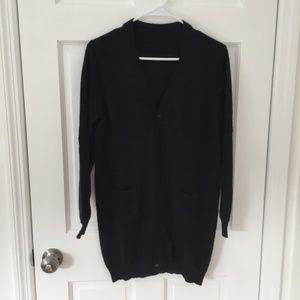 Zara Long Black Cardigan